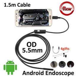 Mp Cables NZ - Digital Micro USB Android Phone Endoscope 5.5mm OD Waterproof Snake Pipe Inspection Borescope Camera 1.5M Cable