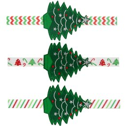 Gifts For Infant Girls Canada - Children Christmas Hair Accessories Baby Headbands Xmas Tree Headbands for Girls Infant Elastic Headband Headdres Festival Gift