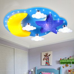 Led Children S Room Bedroom Ceiling Lamp Warm Personality Minimalist Cartoon Star Moon Cloud Baby Boy Girl Room Ceilling Light Cheap Boys Ceiling Lights