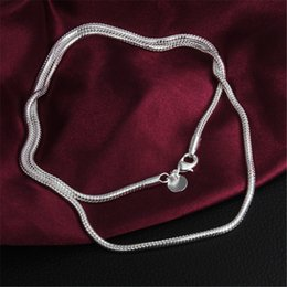 $enCountryForm.capitalKeyWord Canada - Fashion 3mm 925 Sterling Silver Men Jewelry Chain Snake Chain Necklaces 16 18 20 22 24 inch