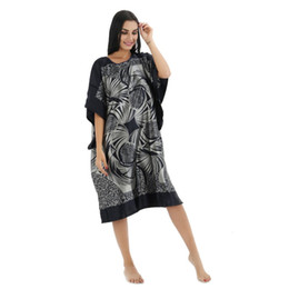 2f201f51a71 Wholesale- Plus Size Black Women s Summer Lounge Robe Lady New Sexy Home  Dress Rayon Nightgown Large Loose Sleepwear Bathrobe Gown
