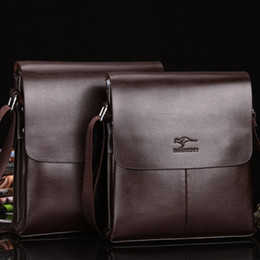 polo bags NZ - 2019 New Men Business Shoulder Bags Genuine Leather Flap Bags Casual Cover Polo Cross Bady Men Brand Messenger Bags Black Brown