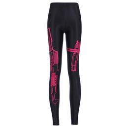 Pistola de las mujeres de impresión digital elástico delgado deportes polainas pantalones Mujer más el tamaño de la moda impreso de estiramiento Fitness Bodycon pantalones talla S-4XL