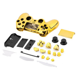 Ps4 shell housing online shopping - 8 Color Electroplate Full Housing Shell Case Skin Cover Button Set Buttons Mod Kit Replacement For SONY Playstation PS4 Controller PS4