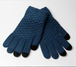 2017 yeni anti-sap jakarlı eldiven dokunmatik ekran beş parmak kış bayanlar örme sıcak eldiven üreticileri toptan