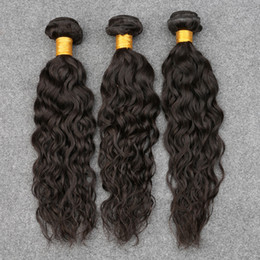 ocean wave hair NZ - Slovevip Indian Hair Indian Water Wave Virgin Hair Ocean Wave Indian Virgin Hair 3 Bundles Wet And Wavy Human Hair Weave Bundles