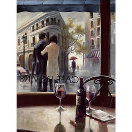 bar paintings Australia - French art Modern oil paintings After the Rain cafe bars Brent Heighton Painting canvas street scene hand-painted wall decor