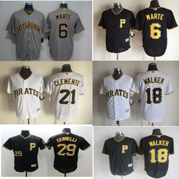 8226c721140 ... Neil Walker Jersey Roberto Clemente Starling Marte Francisco Cervelli Pittsburgh  Pirates Baseball Jerseys Cool Base Sport White ...