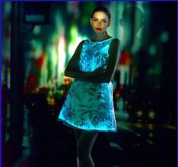 $enCountryForm.capitalKeyWord Canada - stage party club Cloth holiday decoration skirt Light illuminating optical fiber cloth skirt
