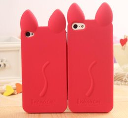 $enCountryForm.capitalKeyWord UK - Fashion Cartoon 3D KOKO Cute Ear Cat Silicon Soft Back Case Cover For iphone 6 6s Free Shipping