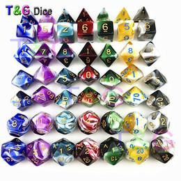 Decider sterben transparente weiße Farbe Würfel D4-D20 für RPG Parties Spielzeug 7 Farben