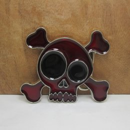 skull plates NZ - BuckleHome Cartoon skull belt buckle belt buckle with silver finish plating FP-02057 free shipping