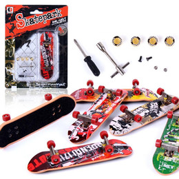 Toys Skating Board Canada - New Arrival Alloy Stand FingerBoards Mini Finger Boards Retail Box Mini Skate De Dedo Finger Skateboard Kids Toys