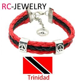 $enCountryForm.capitalKeyWord NZ - 26# Flag Color Bracelet Surfer Leather Bracelets World Cup National Soccer Fan Flags Bangles Trinidad Bracelet