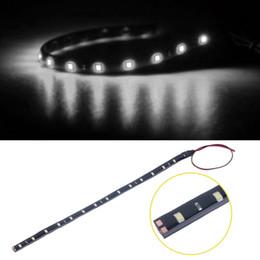 Vente en gros Bandes de LED flexibles de voiture de la puissance élevée LED de bande de 15LED / 30cm imperméables 3528 12V DC SMD, blanc / bleu / rouge / vert / jaune
