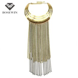 Fashion big long necklaces online shopping - Fashion Big Torques Choker Long Chain Tassel Necklace For Women fashion Accessories Maxi Collar Statement Necklaces Pendants