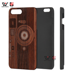 5513d3418 Wooden Cell Phone Case For iPhone 7 Plus Laser Engraving Rosewood Wood Case  Back Cover Case For iPhone 6