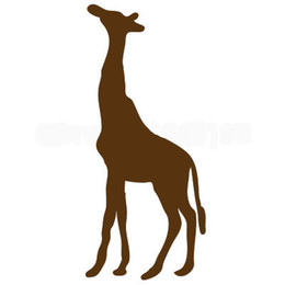 wholesale stickers animals UK - Wholesale 20pcs lot Home Decorations Automobile and Motorcycle Vinyl Decal Car Glass window Stickers Jdm Animal Giraffe Wildlife