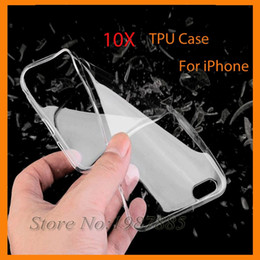 Crystal Clear Phone Cases Canada - Ultra Thin Soft TPU Gel Original Transparent Clear Case Crystal Clear Silicon Back Cover Phone Bags For iPhone 5c 5 5s SE 6 6s plus 7