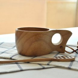 Squeeze Spoon Canada - Portable Coffee Milk Cup for Zakka Japanese Style Wood Handmade Eco-friendly Real Garrafa Termica Squeeze Mug Flavor Kuksa P0340