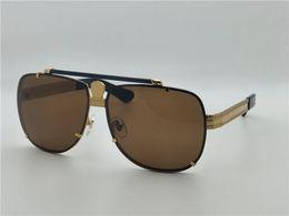 Steampunk men online shopping - New men fashion designer sunglasses retro design square vintage hollow frame rimless UV lens steampunk outdoor style with original box
