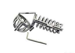 $enCountryForm.capitalKeyWord Canada - 2018 Latest Large Male Stainless Steel Whole Enclosed Chastity Belt Device Cock Penis Cage Ring Adult Bondage BDSM Sex Toy A069 A070