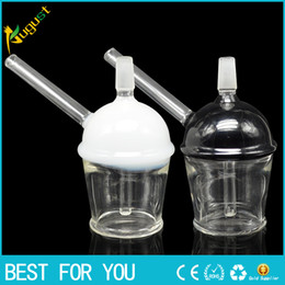 oil cup bong 2019 - 2016 New Glass Cup 2 sizes Glass Water pipes Glass Bong Bubbler Pipe oil rigs joint size 14mm 19mm glass hookah without