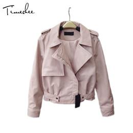 fd4fec4c80f Wholesale- Bomber Jacket Women 2017 New Spring Cool Fashion Short Length  Turn-down Collar Slim Leather Female Coat Jackets LYY0121 women yellow short  ...