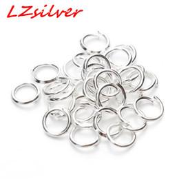 Опт MIC 500 шт. ювелирные разъемы посеребренные 5 мм перейти кольца выводы DIY ювелирных изделий