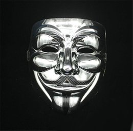 v halloween costume Canada - 2 desings V for Vendetta electroplate Mask with Eyeliner Nostril Anonymous Guy Fawkes Fancy Adult Costume Halloween Mask D345