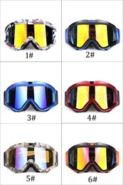 photochromic ski goggles Australia - Moq=1pcs Unisex Fashion Skiing Motorcycle Goggles Outdoors Sports Sunglasses UV400 Cross-Country Antifog Glasses 6 Colors Free Shipping
