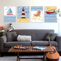 $enCountryForm.capitalKeyWord Canada - Modern Summer Beach Ocean Lighthouse Seascape A4 Large Art Print Poster Wall Nautical Picture Canvas Painting No Frame Home Deco