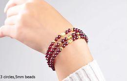 AAAAAA cristalli naturali granato perline braccialetto per le donne fidanzata mamma regalo significativo regalo di compleanno in Offerta