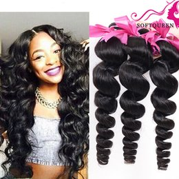 Weave hair extentions online shopping - Soft Real Brazilian Human Hair Extentions a Double Wefts Malaysian Virgin Hair loose Wave g pc Cheap Natural Wavy loose Wave Hair Weave