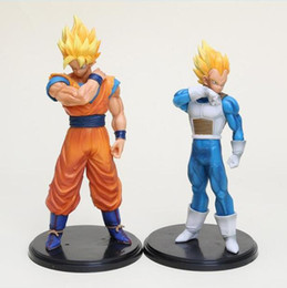 Discount dragonball z figure vegeta - 1pc Dragon Ball Z Figures ROS Son Goku Super Saiyan Vegeta Dragonball Z PVC Action Figures Toys 17-22cm