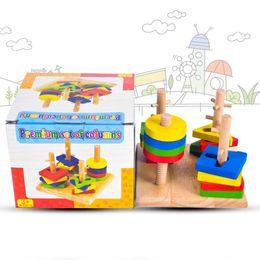 $enCountryForm.capitalKeyWord Australia - Wooden Column Shapes Stacking Toys Kids Preschool Educational Toy Geometric Sorting Board Blocks Montessori Bloaks Game Board