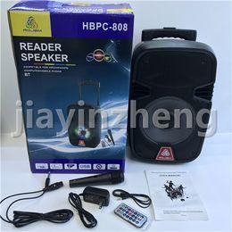 $enCountryForm.capitalKeyWord NZ - Big Bluetooth Speaker Sound HiFi Speaker 8'' Portable AUX Speakers Bass Wireless Outdoor Music Box With USB LED Light TF FM Radio