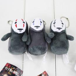 Christmas Cartoon Movies Free Canada - 9cm Anime Cartoon Miyazaki Hayao Spirited Away No Face keychain plush toys stuffed dolls birthday Christmas gift free shipping EMS