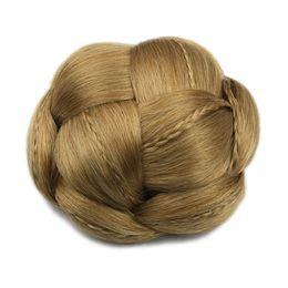 Ingrosso 6 colori intrecciati Clip in capelli finti Chignon Capelli Chignon Fast Bun Donut Roller Posticci