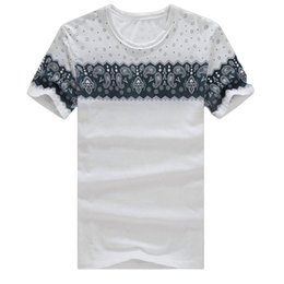 man casual long shirt trends UK - Wholesale- 2017 summer new T-Shirts Men's Tops Tees Vintage Retro O-neck short sleeve t shirt men fashion trends tshirt Plus Size