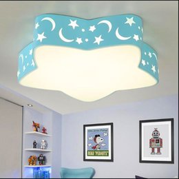 Children Room To Absorb Dome Light Led Lamps And Lanterns Of Boys And Girls Creative Cartoon Stars The Study Bedroom Light