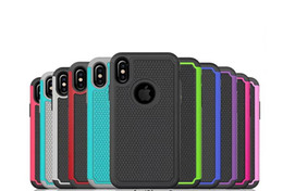 $enCountryForm.capitalKeyWord UK - For iphone X 8 Hybrid Case Rugged Impact Rubber Matte Shockproof Heavy Hard Case for Multicolor