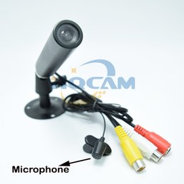 Bullet proof cctv online shopping - 700TVL SONY CCD COLOR Mini Camera mm Lens Indoor CCTV Security Camera mini Bullet Outdoor Waterproof Support Microphone