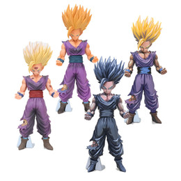 $enCountryForm.capitalKeyWord Australia - 20cm Dragon Ball Z MSP Son Goku Super Saiyan Gohan Chocolate black vision PVC Action Figures Toy