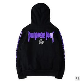 $enCountryForm.capitalKeyWord Canada - Union Brand Purpose Tour Stuff Hoodies Bieber Purple Letter Black Pullover Hoodies GR8 Fleece Hooded Sweatshirts Free Shipping
