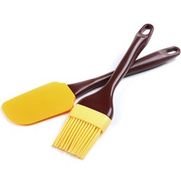 China Wholesale-Bakeware Set Baking Pastry Spatula & Brush Shape Silicone Cake Cupcake Pizza BQQ Pies Tools Utensils Bakery Kitchen supplier cupcakes bakeries suppliers