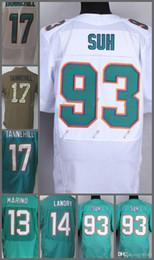 8300d4847 Men s 13 Dan Marino 14 Jarvis Landry 17 Ryan Tannehill 93 Ndamukong Suh  Elite American Football Jerseys Size M L XL XXL XXXL cheap dan football  jersey