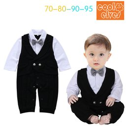 6638a04b60a4 Baby Boys Cotton Casual Rompers Kids Boys Fashion Gentleman Jumpsuits Babies  Autumn Romper 2017 Kids Clothing