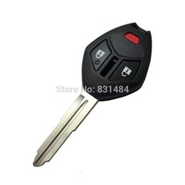 Mitsubishi Replacement Remote UK - 2+1 buttons remote key case shell with left blade for Mitsubishi without logo Replacement smart car key cover for mitsubishi