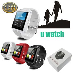 Discount smartwatch dhl - Bluetooth U8 Smartwatch Wrist Watches With Altimeter For iPhone 6 Samsung S6 Note 5 HTC Android Phone In Gift Box dhl fr